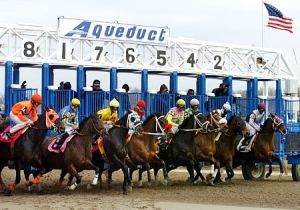 Winter Racing At Aqueduct Racecourse